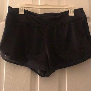 All black nike workout shorts